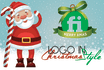 add CHRISTMAS Holiday elements on your Logo
