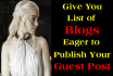 create List of Blogs to Guest Post