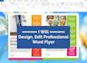 design,edit your flyer in word