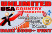 real unlimited website traffic,USA,visitors promote