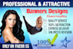 design a great banners and coverbooks for you