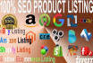 do SEO Products Listing for Amazon, eBay, Shopify and other ecommerce store