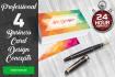 design 4 Business Card designs in 24h