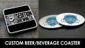 design a beverage beer coaster