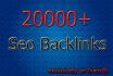 build 20000 HIGH quality, Seo backlinks