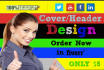 design Facebook, Twitter and YouTube cover photo within 4 hours