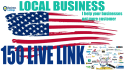 do 150 USA business listing or citation
