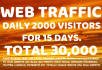 drive daily 2000 real website,traffic,visitors to your site or blog