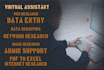 be your Virtual Assistant and also do Data entry