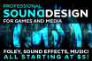 be the AAA sound designer for your video game