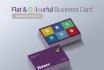 provide you a flat colorful or single color business card