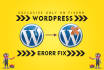 fix Your WordPress, html,css,php Issues or setup WordPress