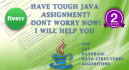 help you in java homework assignment or mini project