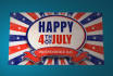create 4th of July Independence day greeting intro