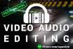 edit or improve the audio track from your video