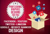 design Social media or website banner