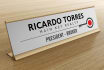 create an awesome desk name plate