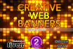 design an amazing web banner for given size