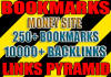 create 250 social bookmarks and 10 000 2nd tier backlinks