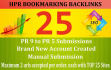 do Social Bookmarking Backlinks on Top 25 HPR Sites for 2 Urls