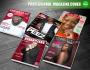 design a professional magazine cover