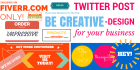 design Twitter Post Banner or Photo for Your Business