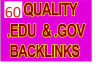 make 50  Edu and Gov Redirection Backlinks PR10 PR5