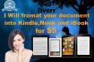 manually format your book into Kindle, iBook and Nook