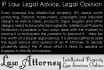 advise and Opine Trademark, Patent and Copyright