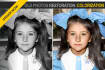 restore your old photos and make them coloured