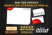 design professional business cards, letterheads