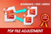 edit and Adjust PDF files