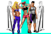 make you Exclusive FITNESS Illustrations