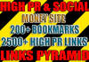 make seo blast with 200 bookmarks and over 2500 high PA links