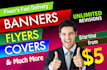create professional banners, covers, fb ads