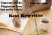 give You The Best REWRITING Service on fiverr