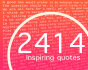 provide 2414 inspirational text quotes with nice formatting