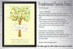 create Personalized Traditional Family Tree Art