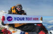 display your message on top of Mount Everest