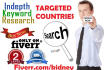 100 long tail keywords country and device targeted