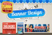 design a PROFESSIONAL ad banner or header within 24 hours