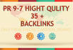 do High Authority  35 PR 9 to 7  Backlinks