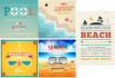 design attractive retro summer flyers and posters