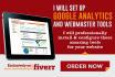 configure google analytics and webmaster tools
