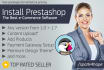 install and configure PRESTASHOP on your domain
