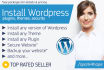 install WORDPRESS, Plugins, Theme and add Security