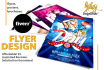 create attractive flyer, poster or brochure
