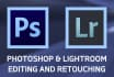 edit or retouch your photos in adobe photoshop or lightroom