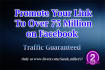 promote your link over 75 million on facebook