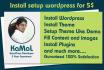 install WordPress and setup WordPress